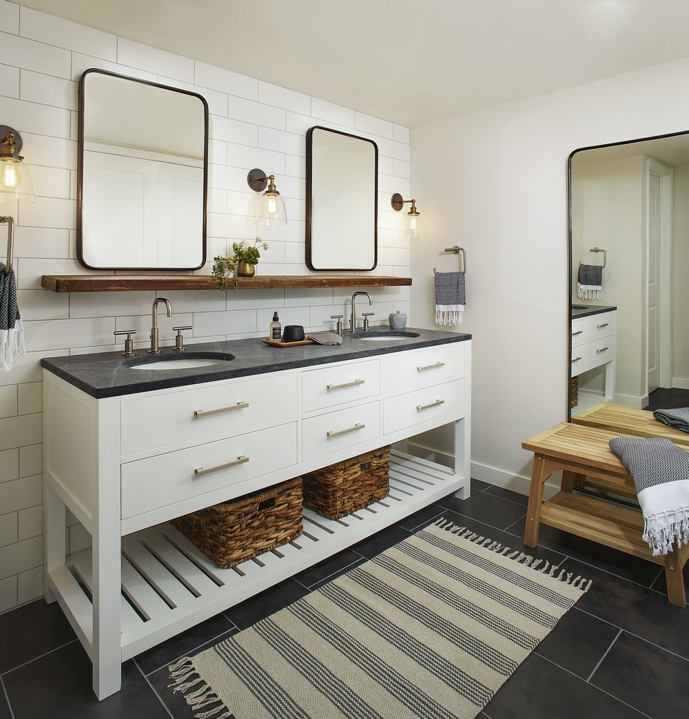 Rustic Modern Master Bathroom - San Ramon, CA