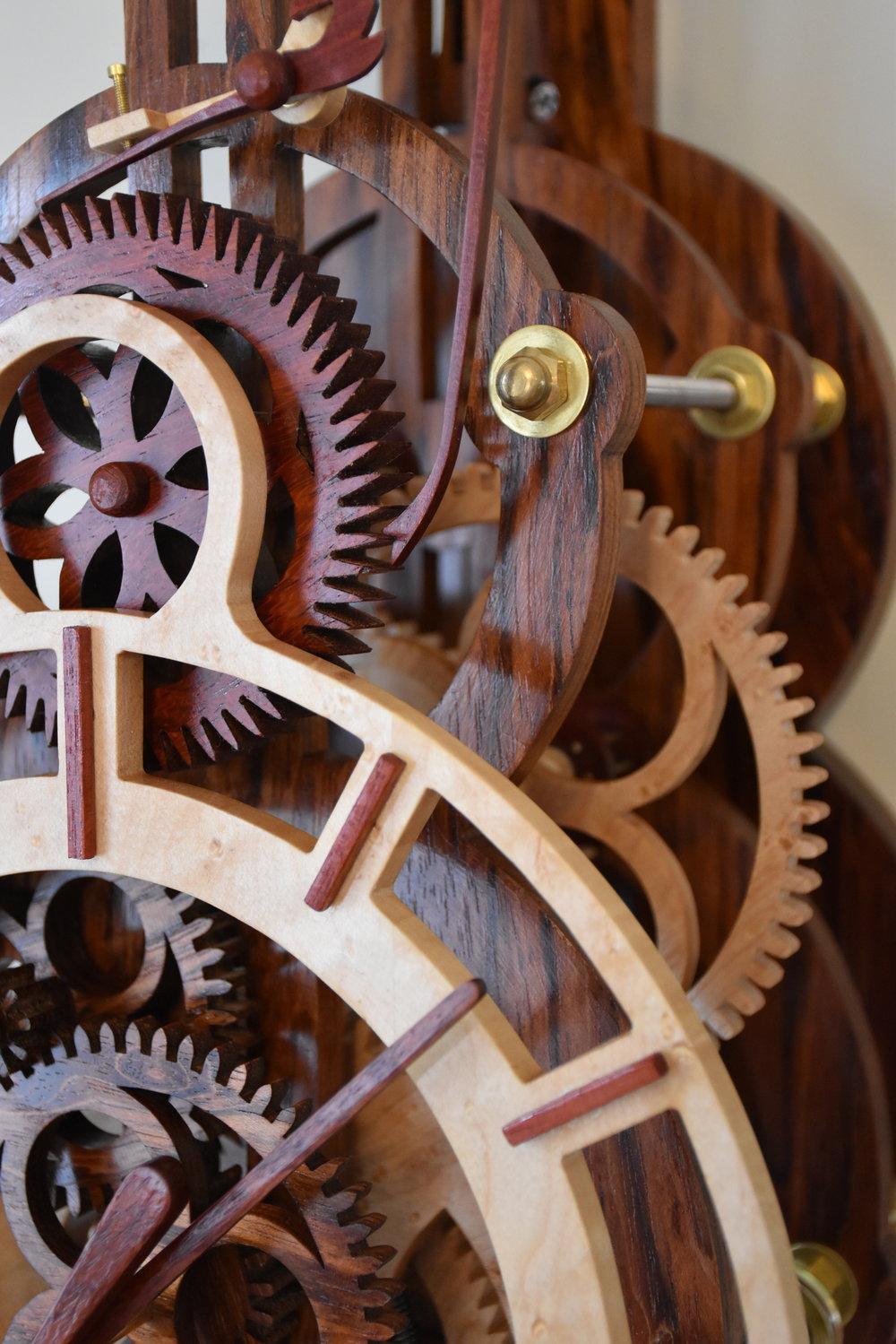 R9 - 8 Day Clock with Grasshopper EscapementThis original design features a