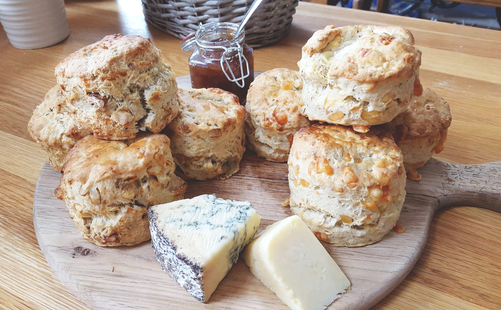 Savoury Scones at The Strawberry Teapot, Sudbury