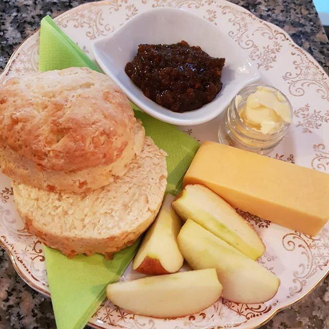 Loving our simple but delicious cheese scone ploughmans from our elevensies menu...