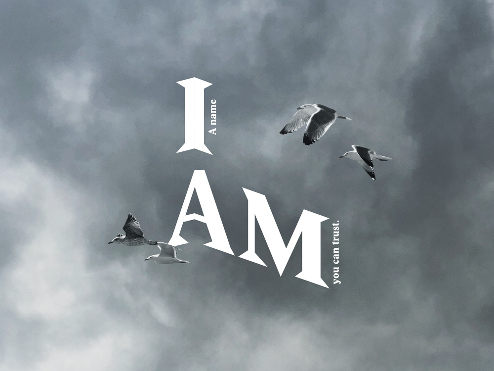 I AM: A name you can trust.   We ask many questions about meaning & purpose in life. With so many voices calling out to us to get our attention, God calls out to us to trust and look to Him to get true answers.