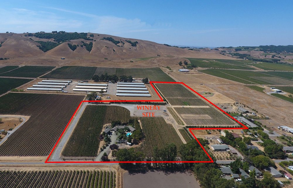 The new winery site will be surrounded by vineyards in the Carneros appellation.  Co-located on the property and just steps away is the Roche family's Vineyard Estate vacation rental.  The new winery property is located just off of Arnold Drive at the end of East Bonness Road and a 10-minute drive from downtown Sonoma.