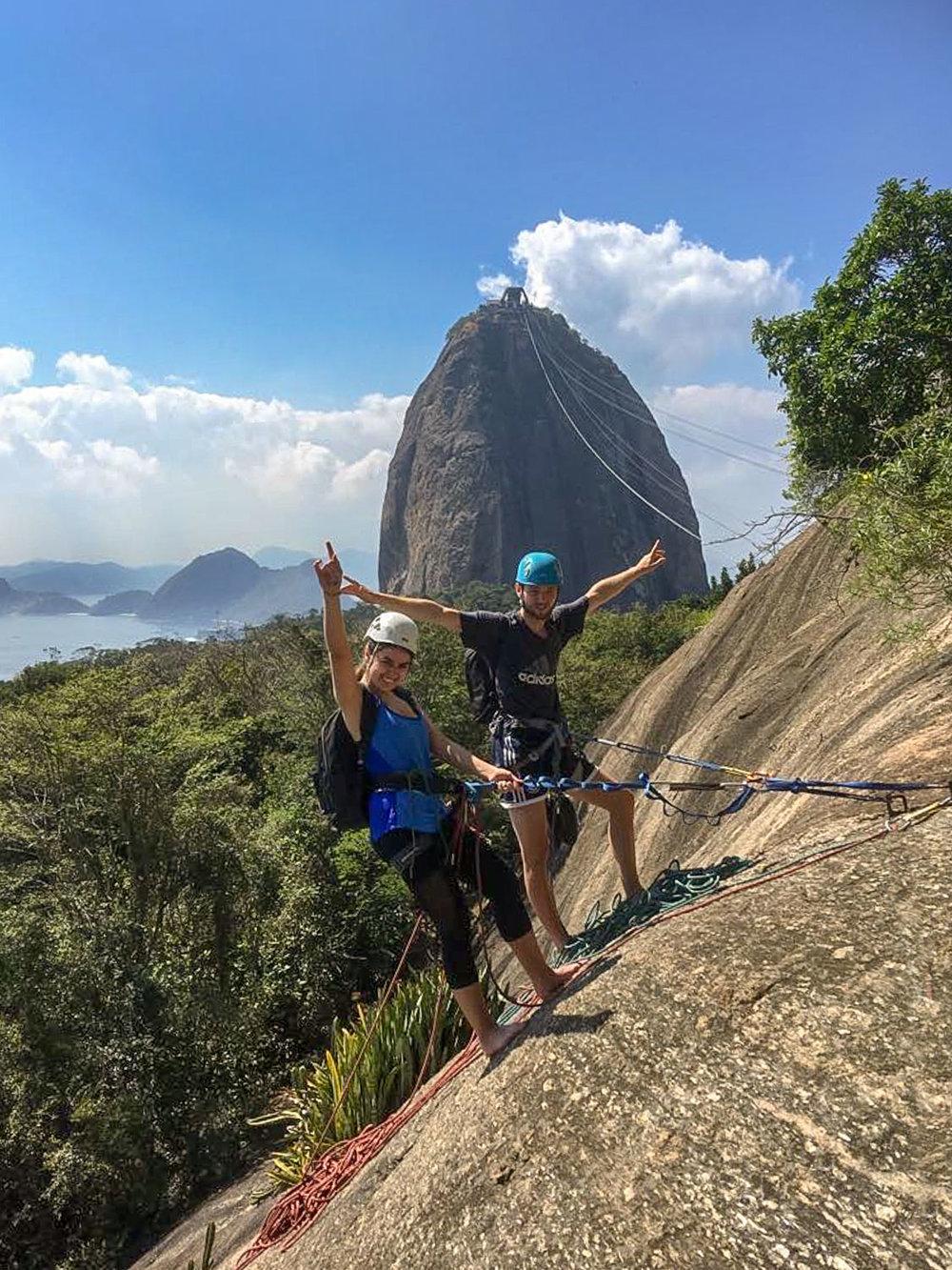 Guided rock climbing on Morro da Urca, Rio de Janeiro