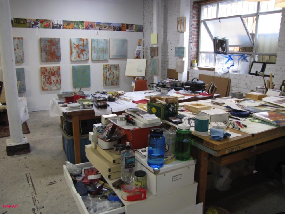 Fletcher's studio at ACAC