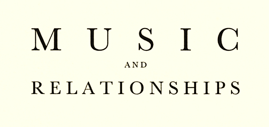 Music and relationships