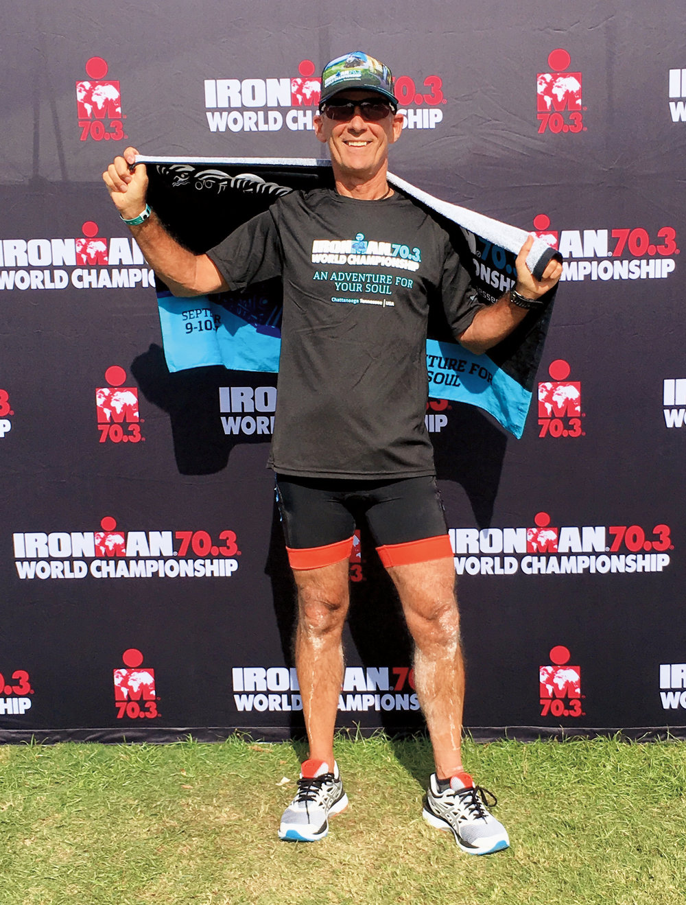 Charlie Bronson '72 completed his second triathlon at the Ironman 70.3 World Championship.