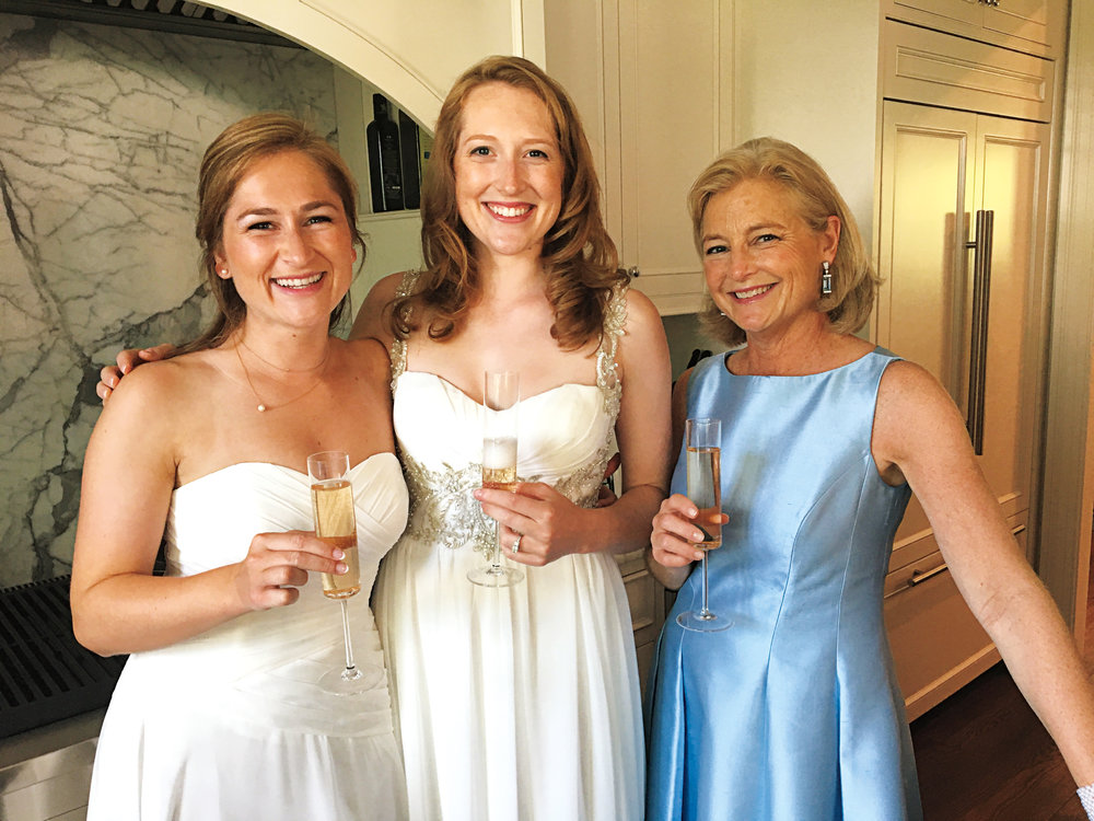 Sarah Bankson Newton '79 (r.) with daughters Lindsay and Avery at Avery's wedding.