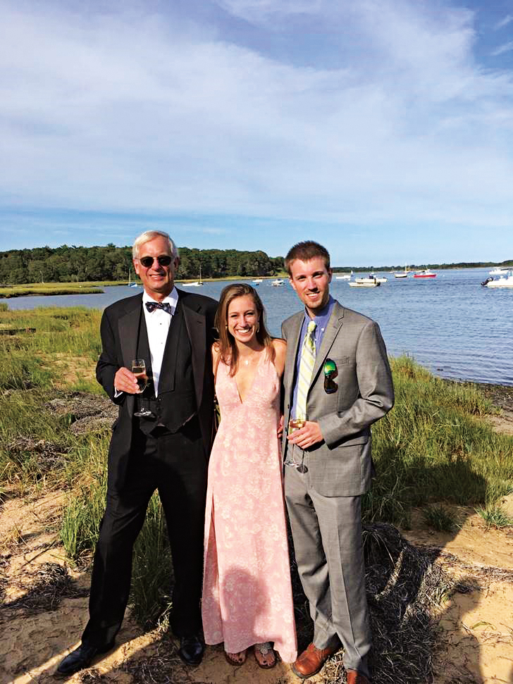 Jad Roberts '64 with daughter Ellie '08 and son Bayard.