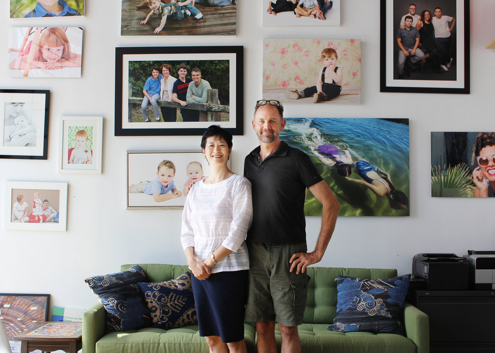 Motoko Ohkawa '84 (l.) and Cam Sanders '83 toured Los Angeles this fall, when Motoko was in town for a work trip.