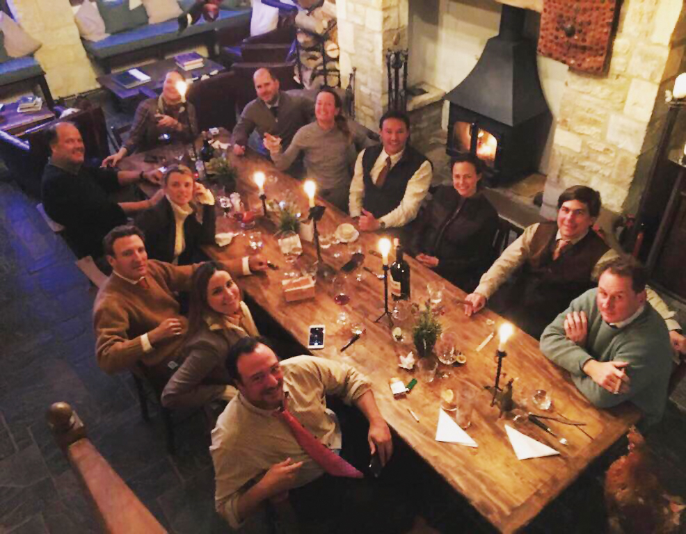 Kendall Sekula '93 hosted a handful of Paulies at her place in the Cotswolds in England.