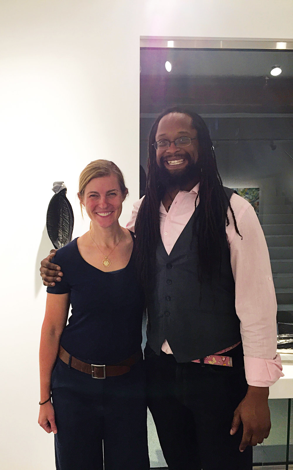 1993 Formmates KT Taylor (l.) and Gamal Smith at the Abigail Ogilvy Gallery in Boston.