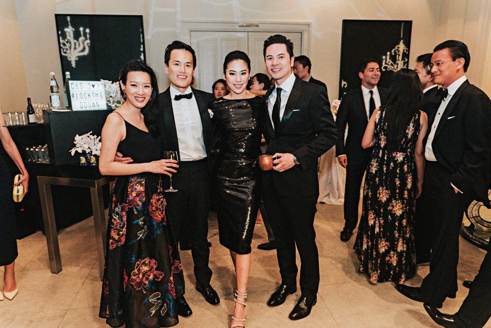 (l. to r.) Joyce Tam '99, Sun Chuan Dai '98, Christine Du (wife of Sun Chuan), and Gus Lee (husband of Joyce) at the wedding of Sun Chuan and Christine in Berlin.