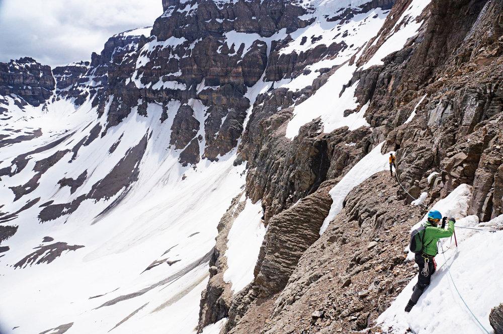 Steph Sorowka '06 taking on some serious climbing in Bulgaria.