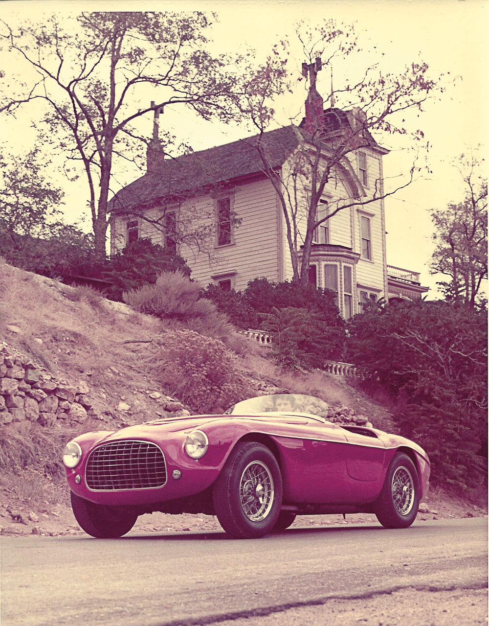 Griswold's first Ferrari, a 212 Export Barchetta No. 0158ED. The car was the winner at Pebble Beach of the Hans Tanner Trophy, with a third overall in the first Monterey Historic Grand Prix the day before.