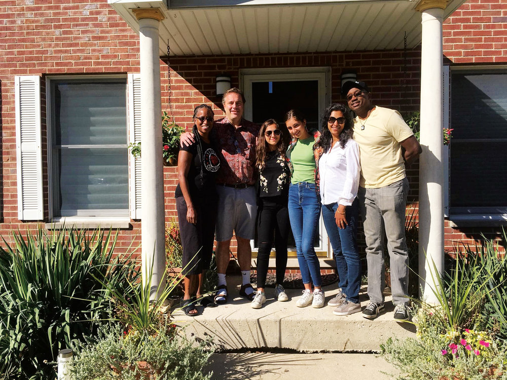 Eric Williams '85, Rob McKay '85 and their families spent a weekend in Chicago together. (L. to r.) Eric's wife, Liane, Rob and daughters, Sarika and Asha, Rob's wife, Sharmeela Mediratta, and Eric.