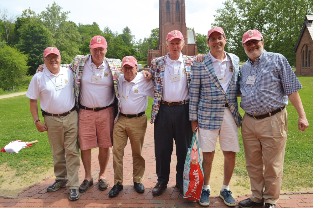 Haven Holsapple, Jim Robinson, Rick King, Jim Colby, Will Whetzel, and Boone Porter celebrating their 50th Anniversary.