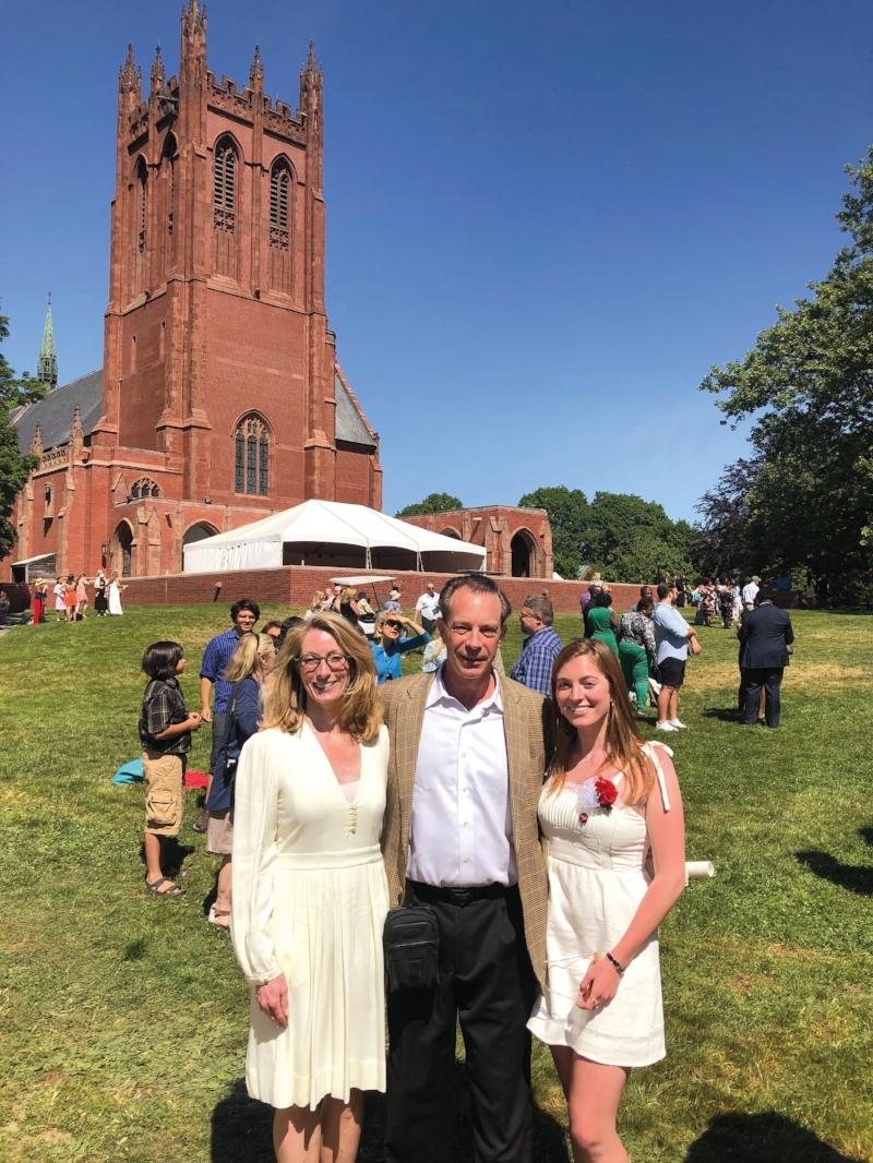 Susan '83, Dana '83, and Katherine Emery '18