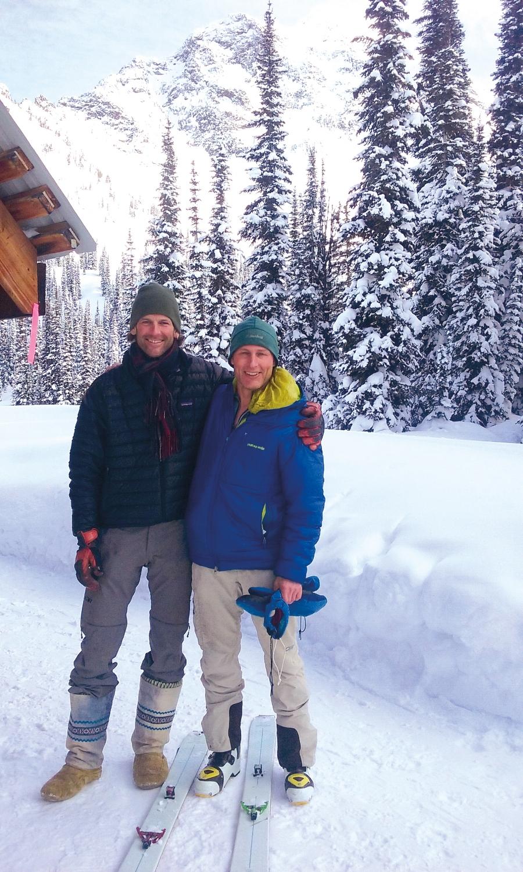 Minot Maser '87 and John Lehrman '89 at the Valhalla Lodge in British Columbia.