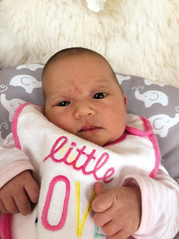 Isabelle Pace Doherty, daughter of Amy Wilkinson Doherty '04 and husband David, was born on May 4, 2018.