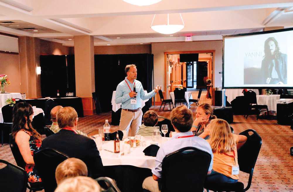 Keith Lauver '88 spoke about the future of the Cook Scholarship on Saturday evening.
