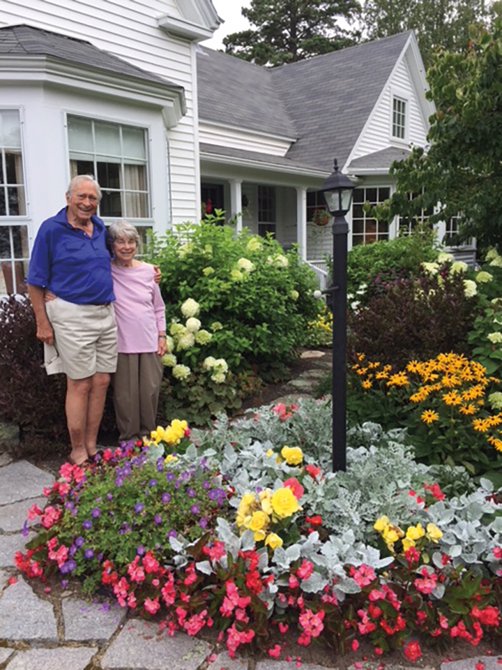 Louisa and Bill Newlin '51 at their home in Maine.
