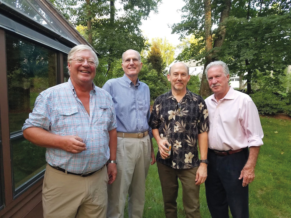Formmates from 1969 (l. to r.) Rick Lyon, Bob Rettew, Bill Lane, and Ian Gillespie, got together on Labor Day.