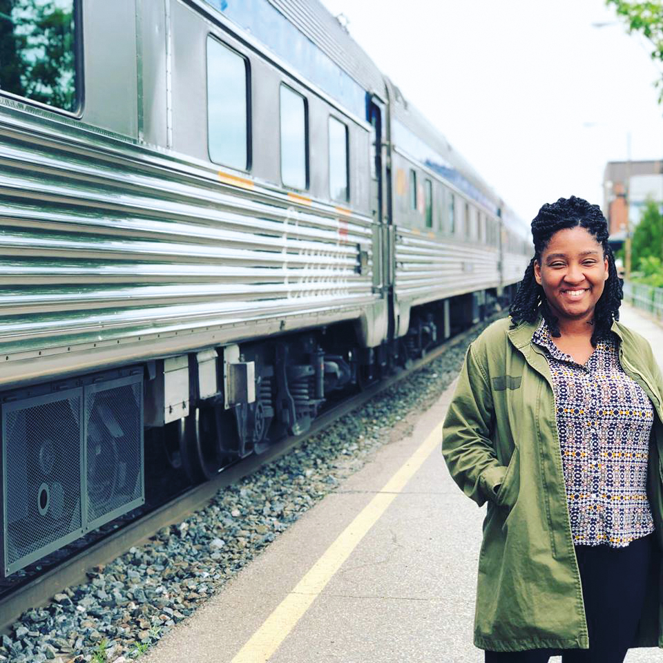 Daneeka Abellard '07 during her move from Vancouver, B.C., to New York.