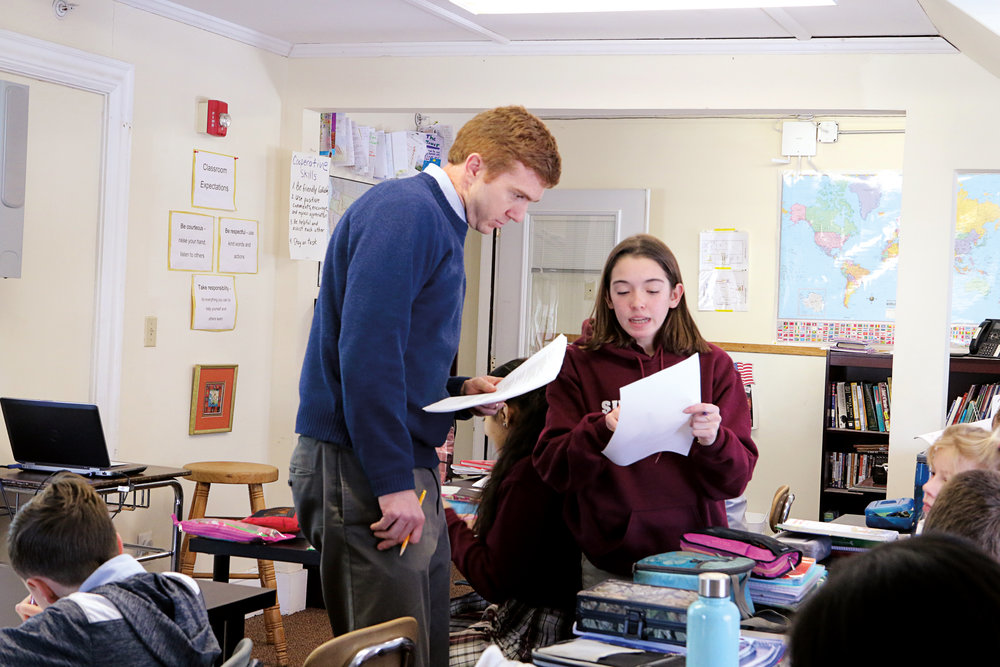History teacher Simon Parsons '03 aspires to teach with passion, in the mold of his own former teachers.