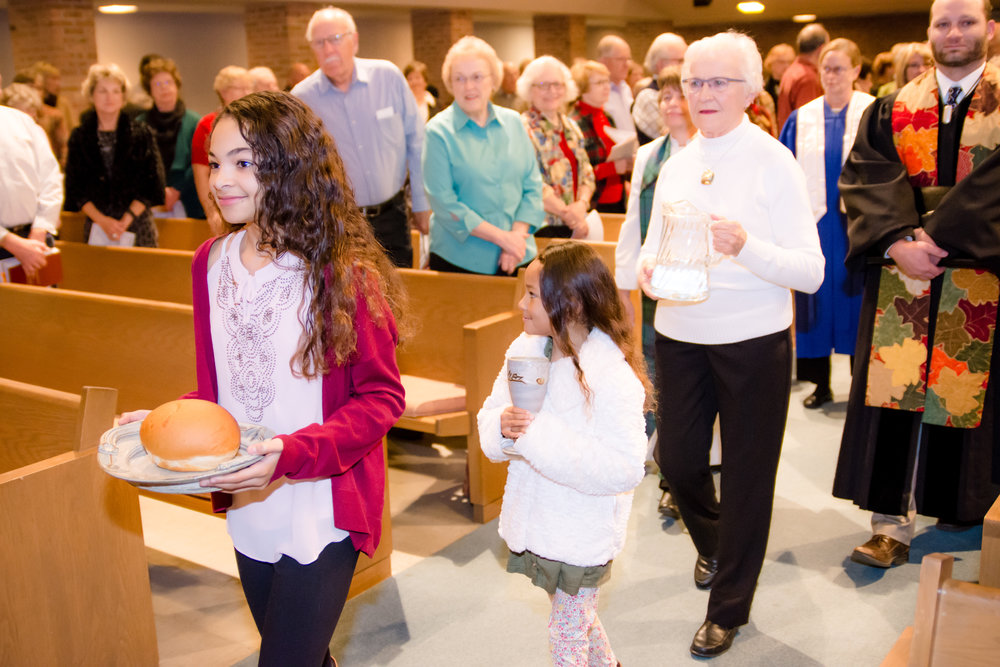 A vibrant Sunday morning at worship at First Presbyterian Church, Sioux Falls.