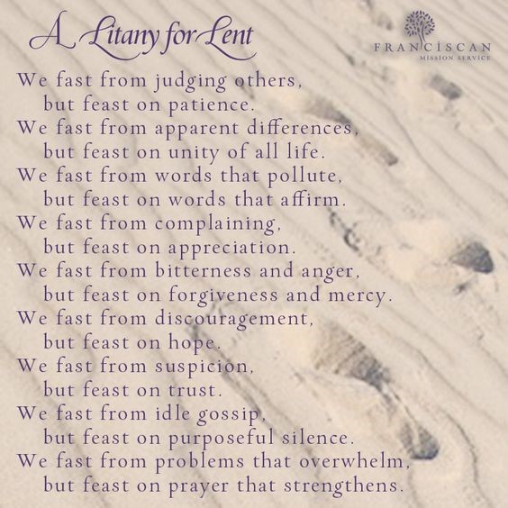 A Litany for Lent