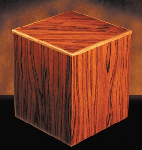 Manning Rosewood cube urn