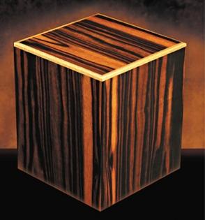 Manning Ebony Macassar Cube urn