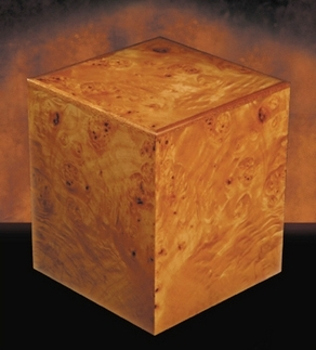 Manning Maple Burl cube urn