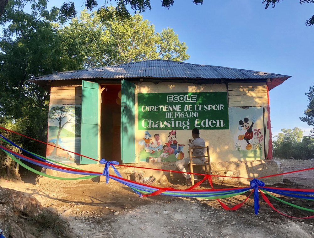 OUR NEW SCHOOL - We have just launched our first Chasing Eden School deep in the mountains of Figaro, Haiti where the children would otherwise have no access to education.