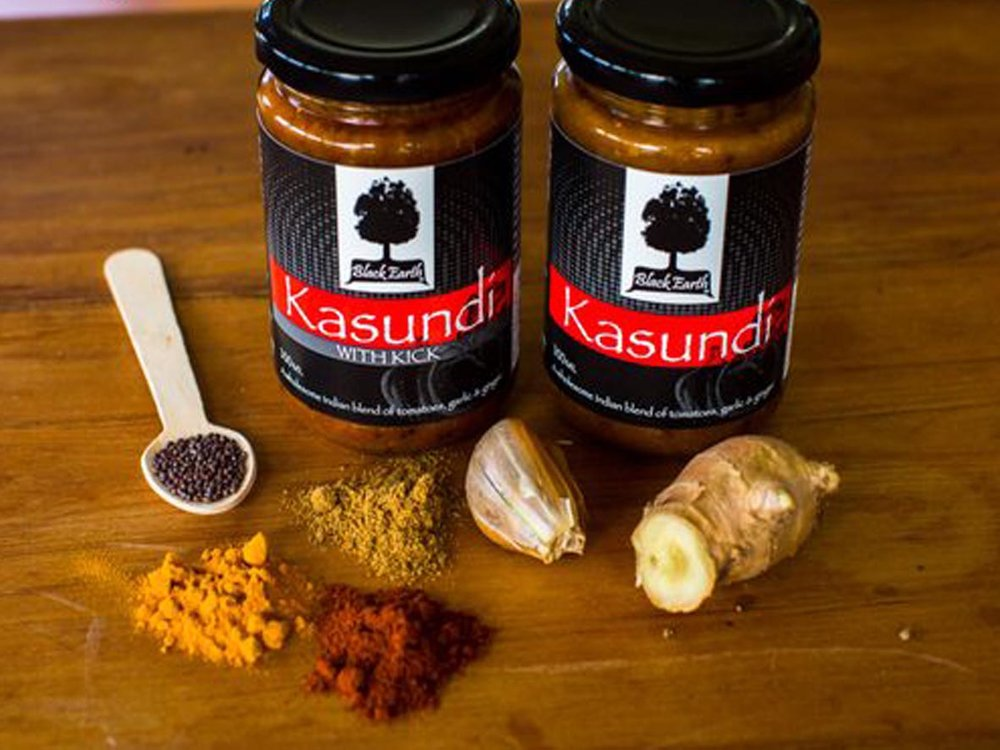 Black Earth Kasundi -  https://blackearth.co.nz/kasundi-sauce/Tomato sauce with a lot more going on, kasundi is a rich tomato sauce or pickle that originated in Bengal.Available in store.