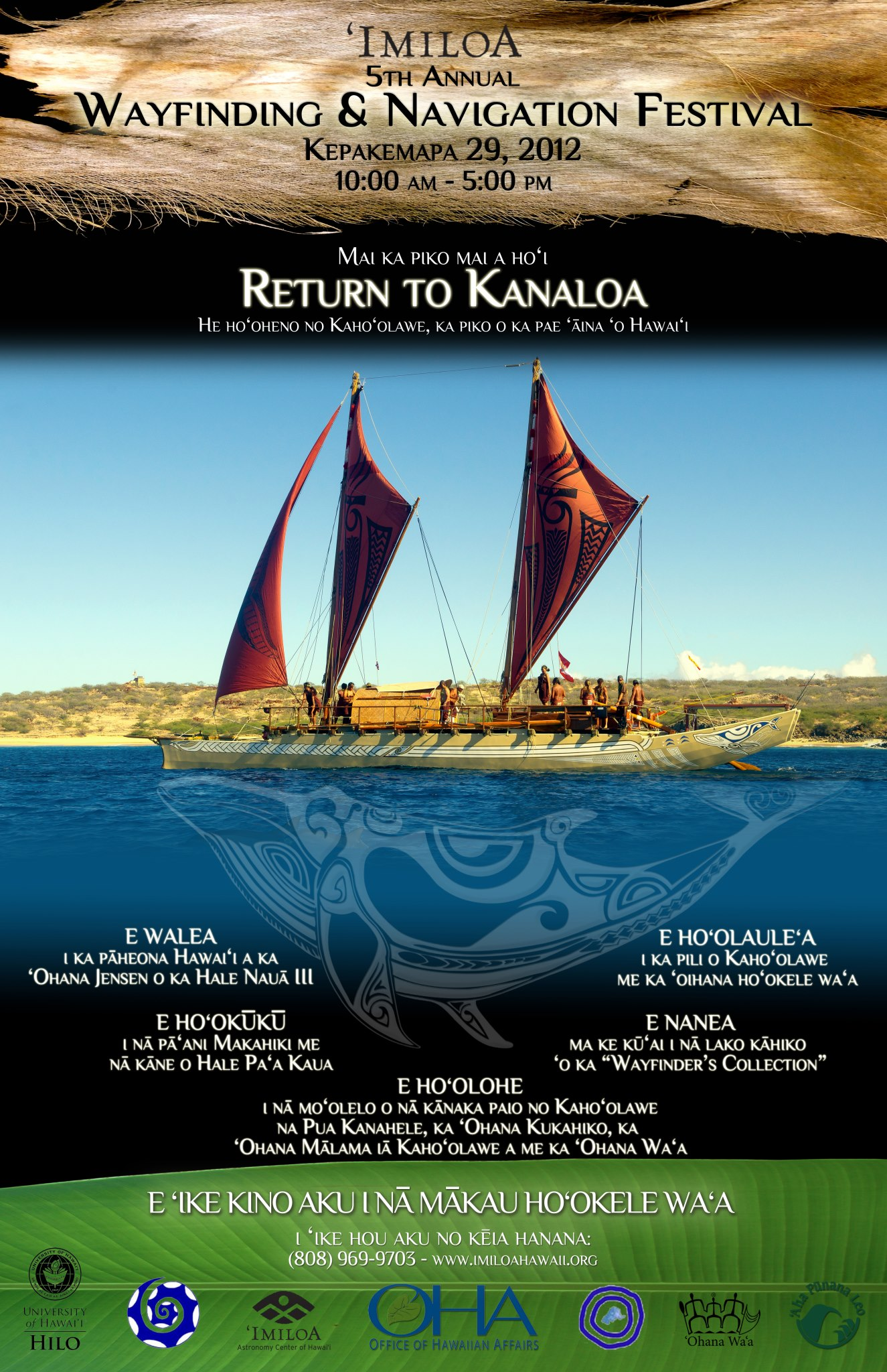 The Manaʻo Behind the Poster for this yearʻs 2012 Wayfinding