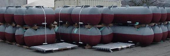 Freshly coated flotation devices