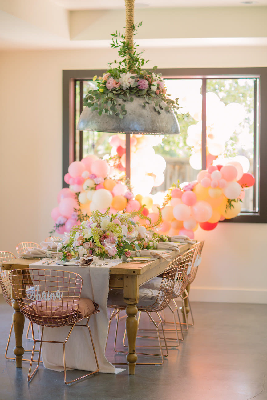 Zim Balloons - Take Time To Toast Window balloon garlands outside.jpg