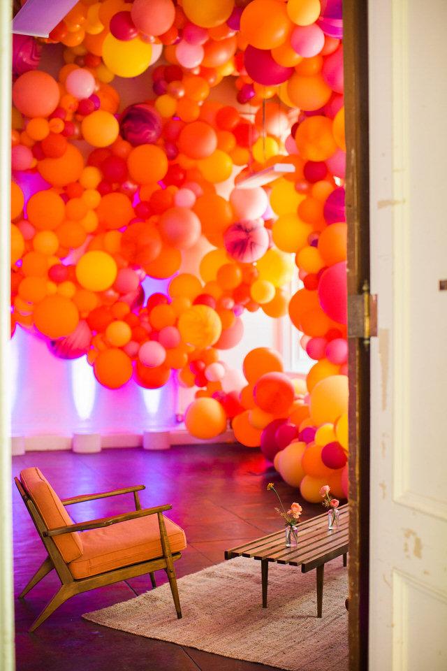 Balloons North Bay SF Organic Balloon Garland for a wedding - Zim Balloons.jpg