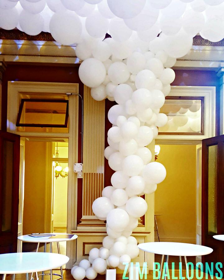 All White Balloon Sculpture - Organic Balloons San Francisco.jpg