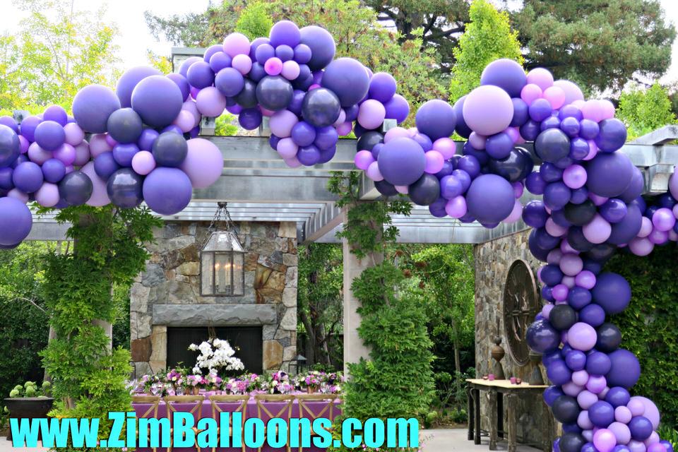 Trellis Purple Balloon Garland San Francisco Bay - Zim Balloons.jpg
