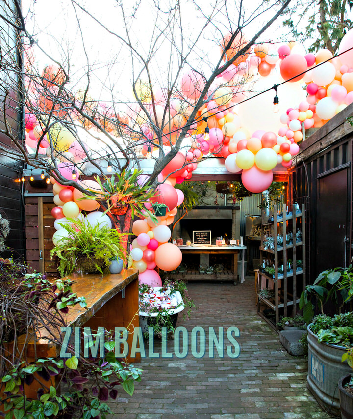 Take Time to Toast SF balloon Installation Garland Galantines day Party - Zim Balloons.jpg