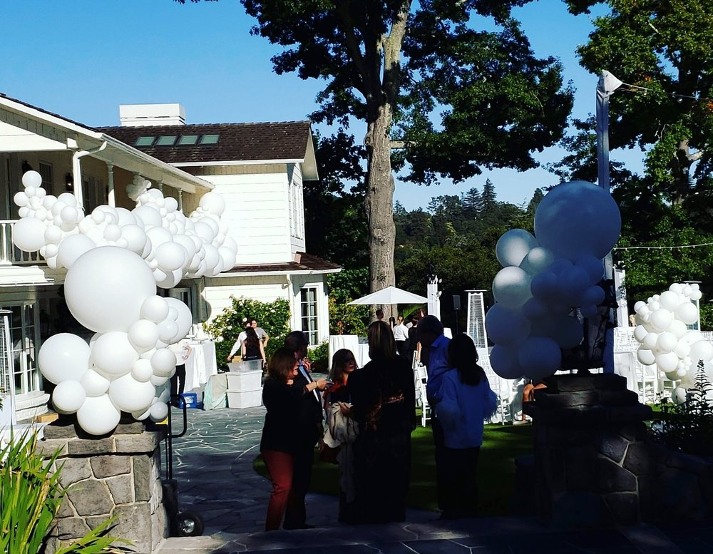 Birthday All White Giant Cloud Balloon Installation - Zim Balloons.jpg