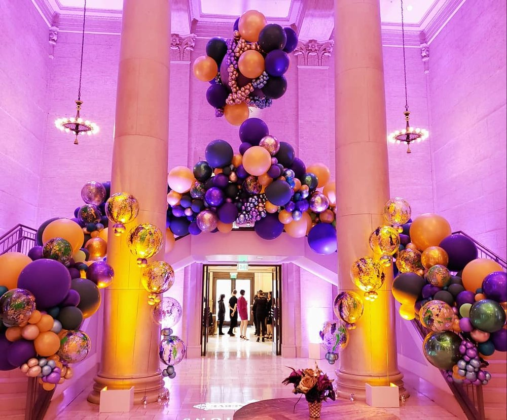 Mardi Gras Balloon Installation San Francisco _ California Balloon Installation _ ZIm Balloons.jpg