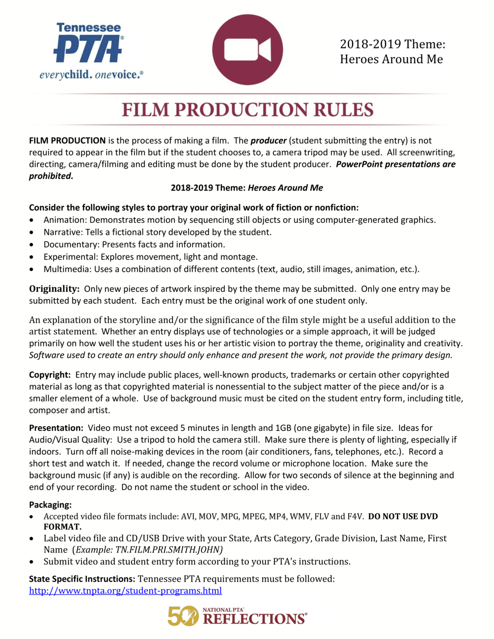 18-19 Reflections Film Production Rules.png