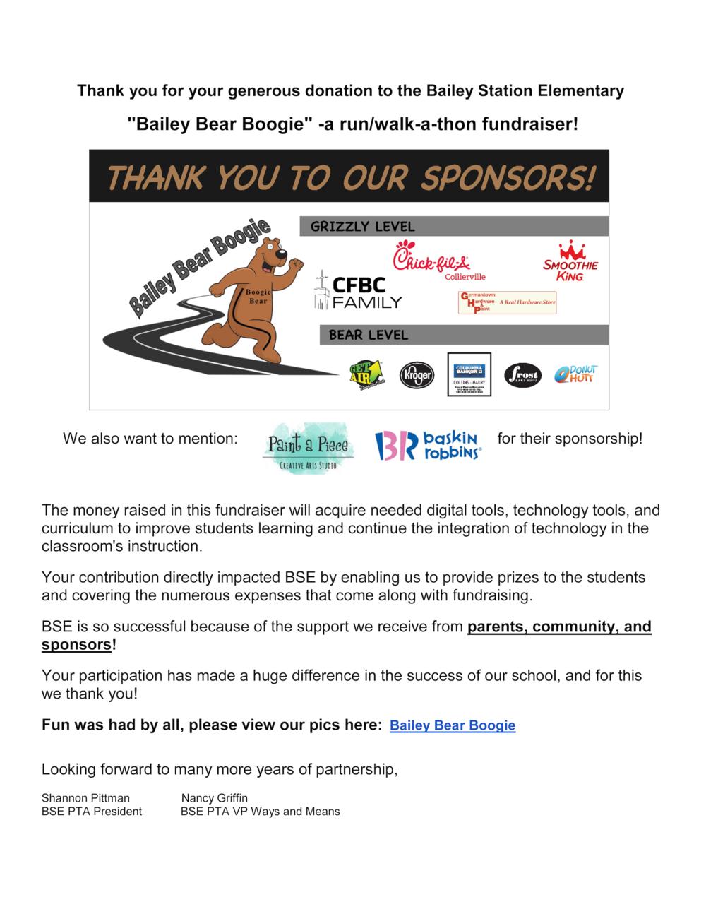 BBB Sponsors