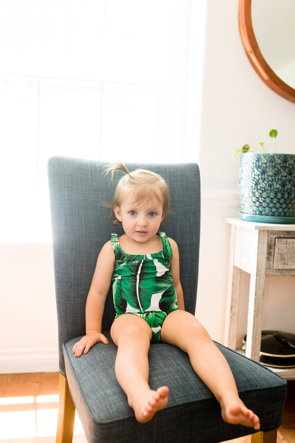 Palm lead swimsuit toddler
