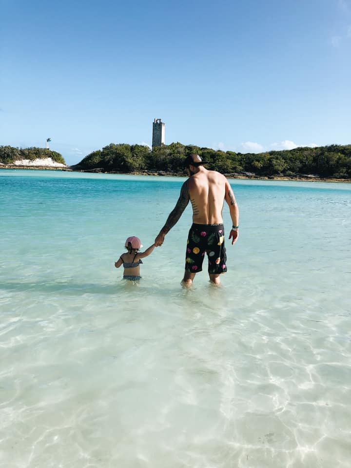 The Blue Lagoon Island's lagoon with calm waters for the children to play in.