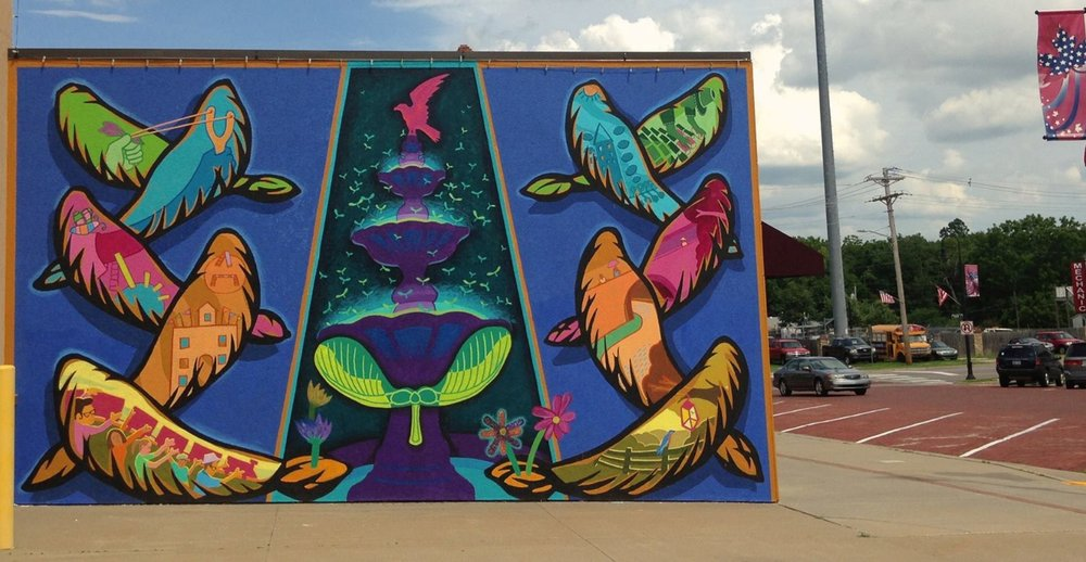 First Outside Mural In Baldwin City, KS