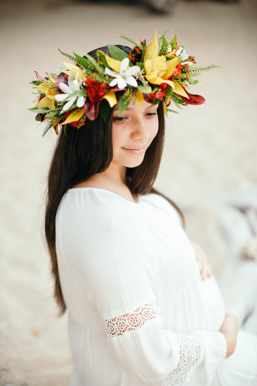 grainy maternity portrait